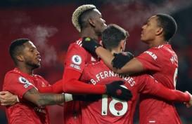 Hasil Liga Inggris : MU Sikat Villa, West Ham Hentikan Everton