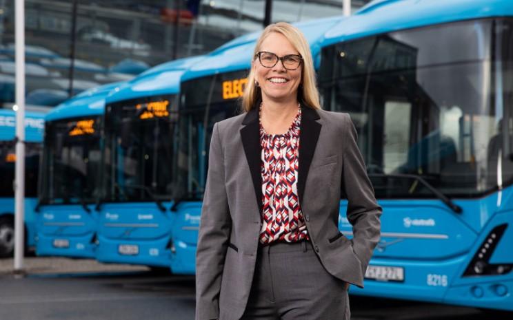 Marie Carlsson, Direktur Pengembangan Bisnis Mobilitas Kota Volvo Bus. Investasi di Gothenburg sangat fantastis dan akan membuat perbedaan besar bagi penduduk kota.   - Volvo Bus