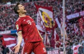 19 Gol, Striker Munchen Lewandowski Makin Mantap Top Skor Bundesliga