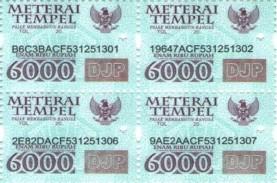 Aturan Bea Meterai 2021: Materai Rp3.000 dan Rp6.000…