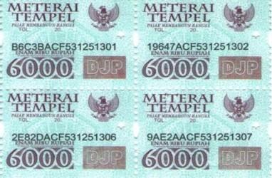 Aturan Bea Meterai 2021: Materai Rp3.000 dan Rp6.000 Masih Bisa Digunakan?