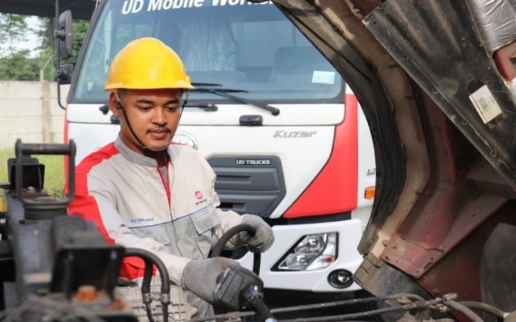Kuzer, salah sau truk produksi Astra UD Trucks. - Astra