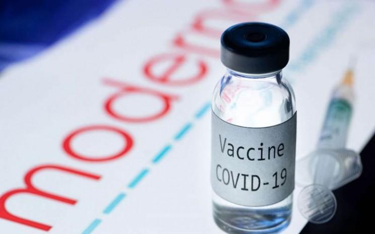 Vaksin virus corona Moderna bisa melindungi masyarakat selama 2 tahun. - ilustrasi