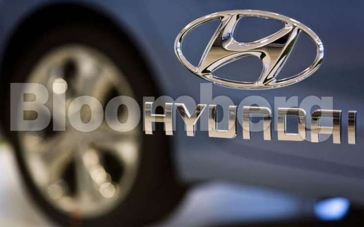 Logo Hyundai. - Bloomberg