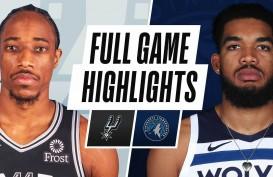 Hasil Basket NBA : Menang Tandang Lagi, Spurs Atasi Timberwolves