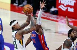 Hasil Basket NBA : Utah Jazz Makin Perkasa di Hadapan Detroit Pistons