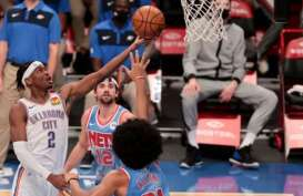 Hasil Basket NBA : Gilgeous-Alexander Gemilang, Thunder Gasak Nets
