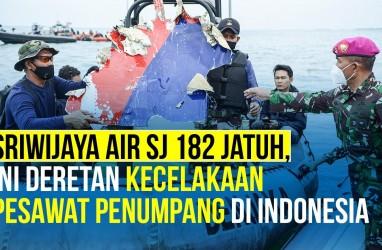 Deretan Panjang Kecelakaan Pesawat Penumpang di Indonesia