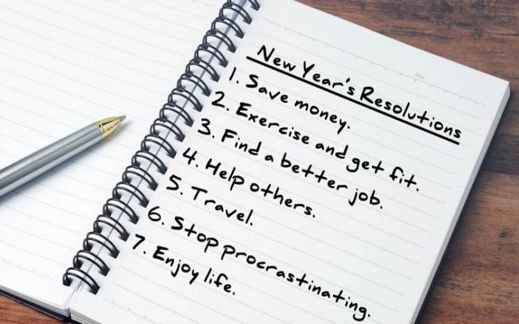 Resolusi tahun baru. - ilustrasi