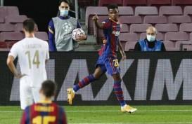 Eto'o Yakin Ansu Fati Bakal Jadi Penerus Messi di Barcelona