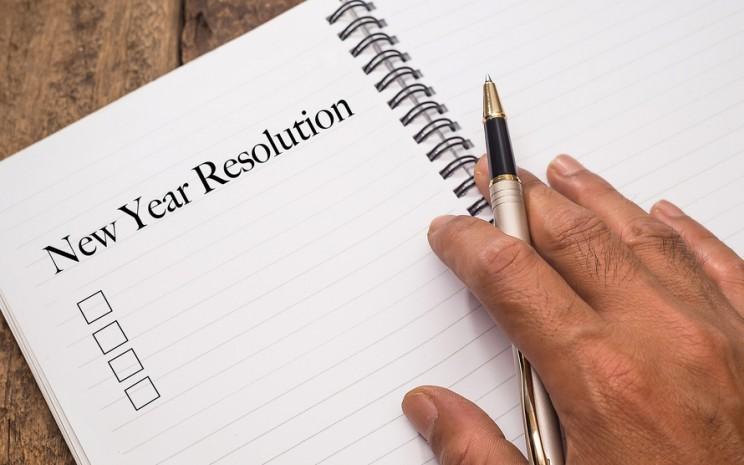 Untuk menggapai resolusi tahun baru, maka dibutuhkan kedisiplinan dan strategi. - ilustrasi