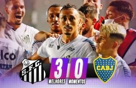 Santos vs Palmeiras di Final Copa Libertadores di Maracana, Brasil