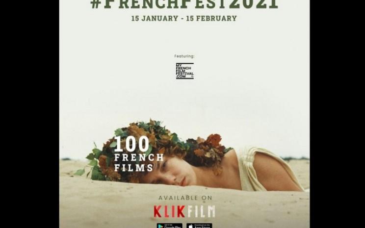 KlikFilm menjadi partner resmi MyFrenchFilmFestival 2021. - Antara
