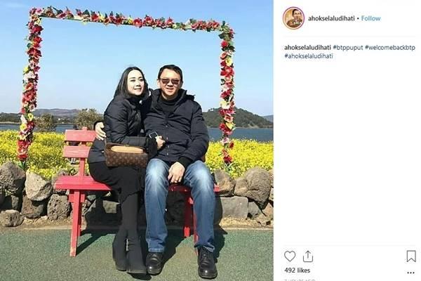 Puput Nastiti dan Basuki Tjahaja Purnama (Ahok) - Instagram@ahokselaludihati