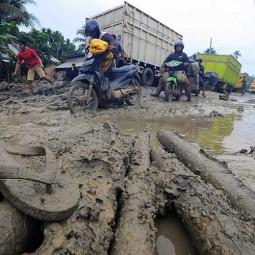 Jalan Provinsi di Jambi Rusak Parah