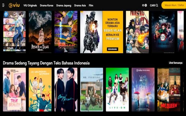 Situs dan aplikasi streaming film legal Viu  -  Tangkapan layar Viu.com