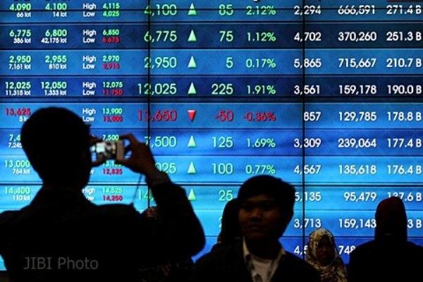 REKOMENDASI SAHAM 9 Juni: IHSG Bakal Rebound Papan elektronik menunjukkan pergerakan indeks harga saham gabungan. JIBI - Dwi Prasetya