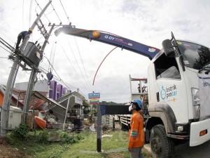 PLN Mulai Perbaiki Jaringan Listrik Yang Rusak Pasca Gempa di Mamuju