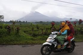 Gunung Merapi Meluncurkan Lava Pijar ke Arah Barat…