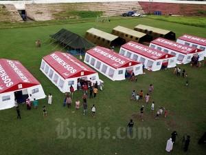 Tenda Covid-19 Untuk Pengungsi Gempa