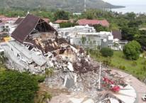 Kerusakan pada Kantor Gubernur Sulawesi Barat akibat gempa pada Jumat (15/1/2021)./Dok. BNPB
