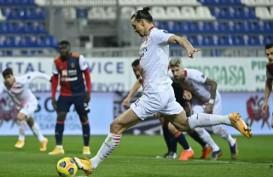 Ibrahimovic Kembali & Borong Gol untuk Milan Taklukkan Cagliari