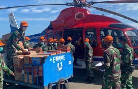 Helikopter IATA Bantu BNPB Salurkan Bantuan Logistik ke Mamuju