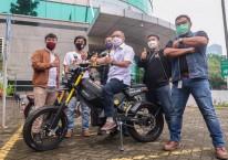 Elbike ECR-3000 Bima Enduro Supermoto Traill Bike. Sepeda motor listrik ini dapat dipacu hingga 100 km per jam. /Pertamina