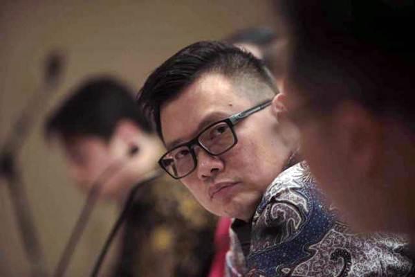 Presiden Direktur PT Metrodata Electronics Tbk Susanto Djaja memberikan penjelasan pada jumpa pers Metrodata Solution Day 2017 di Jakarta, Selasa (12/9). - JIBI/Nurul Hidayat