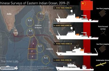 Gawat! Kapal China Diduga Lakukan Pemetaan Bawah Laut di Samudra Hindia