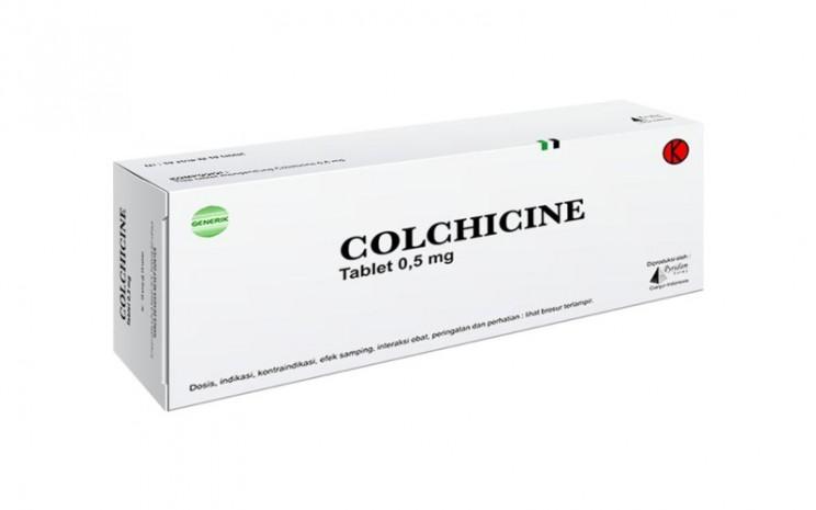Ilustrasi obat colchicine. Obat ini dikenal bisa digunakan untuk pengobatan gout atau radang sendi. Studi yang dilakukan Montreal Heart Institute menunjukkan obat ini ampuh mengurangi risiko kompilasi pada pasien rawat jalan yang terjangkit Covid-19. - pyrifamfarma