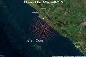 Gempa Bumi Berkekuatan M4,9 Melanda Bengkulu