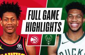 Hasil Basket NBA : Bucks Hajar Hawks, Antetokounmpo Bikin Sejarah