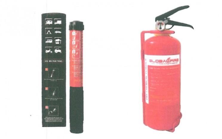 Alat pemadam api ringan atau APAR maksimal 1 Kg, dan APAR lebih dari 1 kg.  - SE Dirjen Hubdat