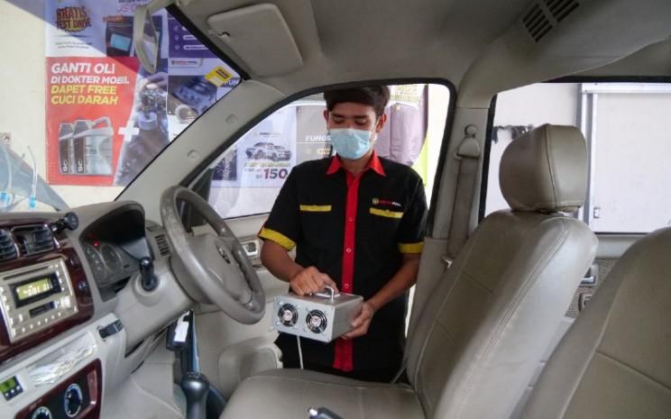 Durasi pengerjaan Ozone di Dokter Mobil diklaim membutuhkan waktu 30 menit.  - Dokter Mobil