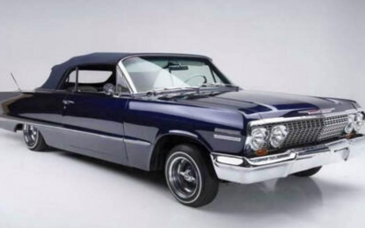 Mobil lowrider Chevrolet Impala 1963 milik mendiang legenda basket NBA Kobe Bryant. - istimewa