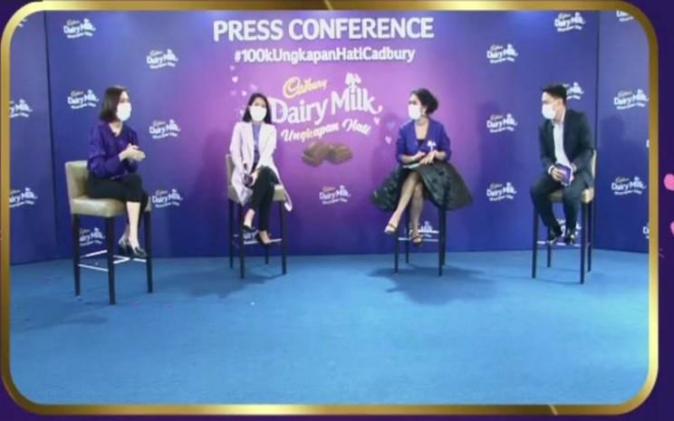 konferensi pers virtual Ungkapan Hati Cadbury, Rabu (27/1 - 2021).