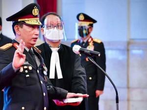 Jokowi Lantik Komjen Pol Listyo Sigid Prabowo Sebagai Kapolri