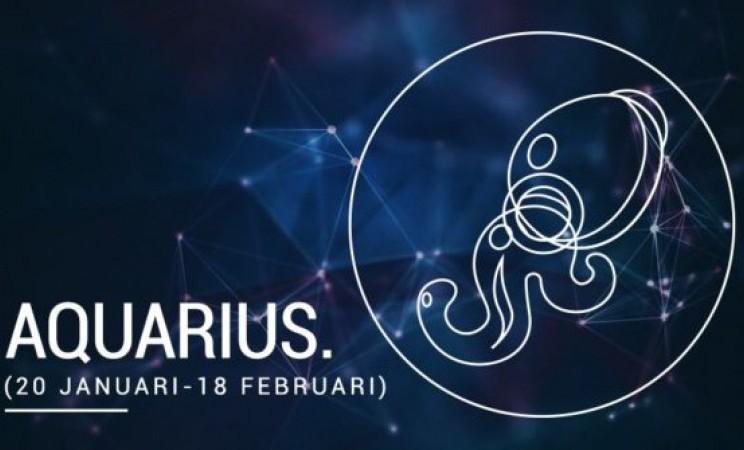Zodiak Aquarius memiliki elemen udara. - ilustrasi