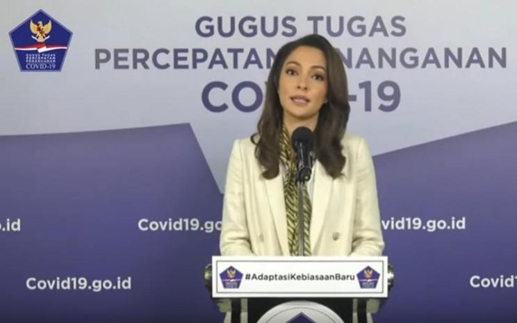 Tim Publikasi Gugus Tugas Percepatan Penanganan Covid-19, dokter Reisa Broto Asmoro. JIBI - Bisnis/Nancy Junita