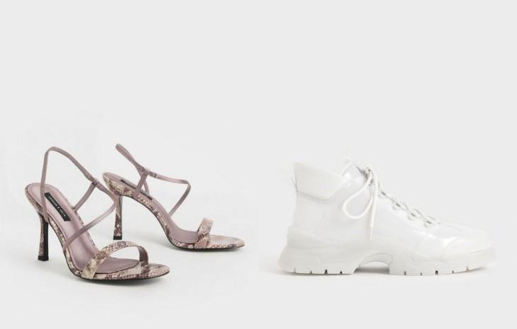 Koleksi sepatu Charles & Keith. - Antara