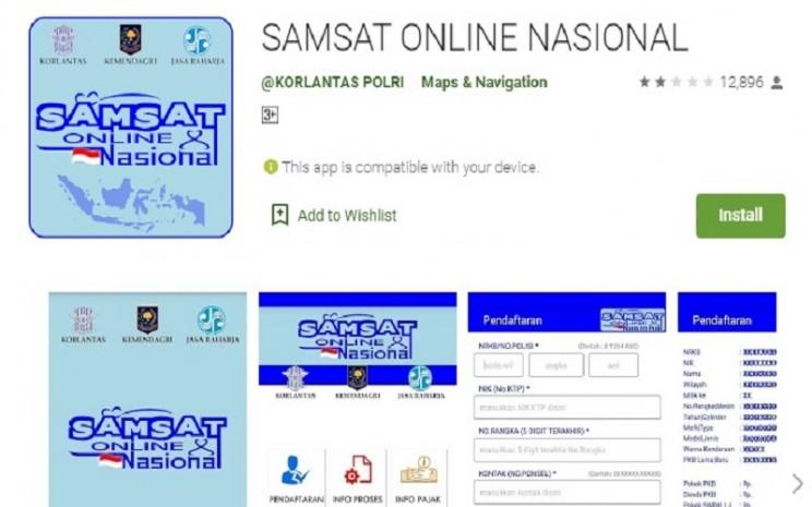 Aplikasi Samsat Online Nasional  -  Google Playstore