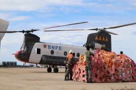 Percepat Bantuan Logistik, BNPB Gunakan Helikopter…