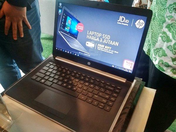 HP Indonesia memamerkan Laptop HP Joy 2 dalam acara peluncuran pada Selasa (2/10/2018). - Bisnis/Syaiful Millah