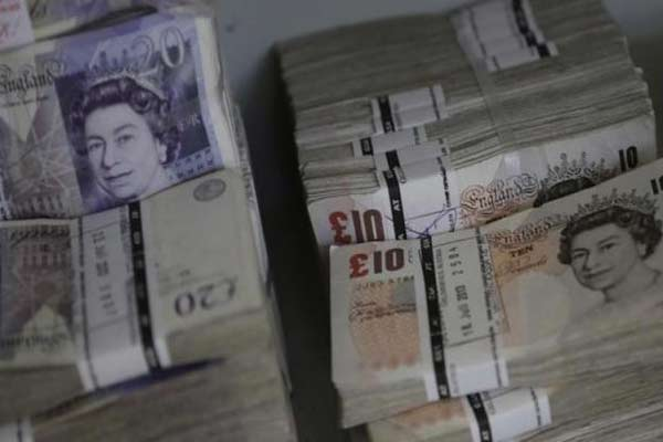 Pound sterling.  - Reuters