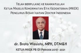 Ketua MKEK PB IDI Broto Wasisto Meninggal di RS Persahabatan
