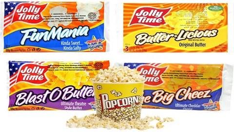ShopeePay Beri cashback bagi konsumen yang ingin membeli popcorn Jolly Time. - ilustrasi