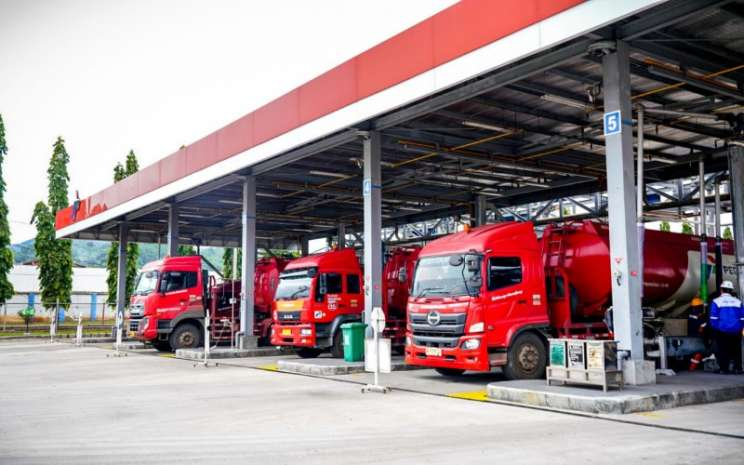Mobil tanki Pertamina siap menyalurkan pasokan BBM di Sumbagsel. istimewa