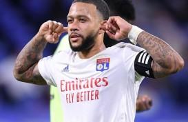 Hasil Liga Prancis, Memphis Depay Bawa Lyon Pimpin Klasemen