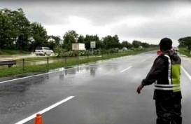 Ruas Tol Cipali KM 136 Sempat Terendam Banjir